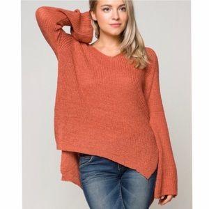 Sweaters - Crochet Top Bell Sleeves Sweater